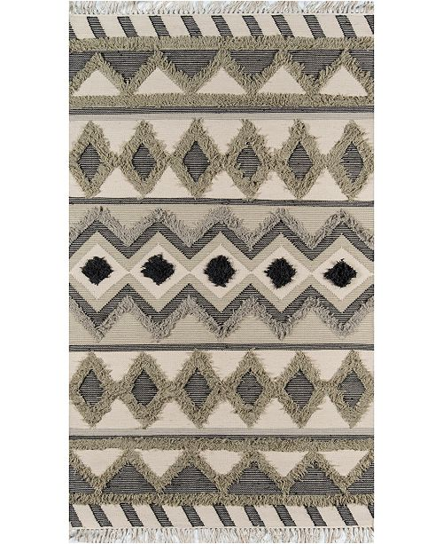 Novogratz Collection Novogratz Indio Ind-4 Sage 5' x 7' Area Rug
