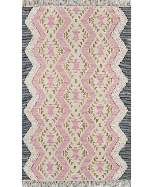 "Novogratz Collection Novogratz Indio Ind-1 Pink 7'6"" x 9'6"" Area Rug"