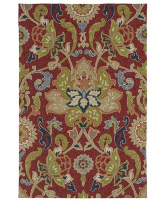 """Home and Porch 2042-25 Red 7'6"""" x 9' Area Rug"""
