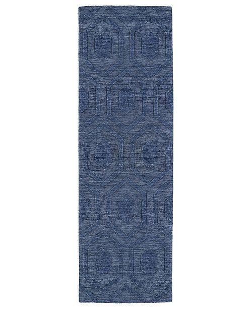 "Kaleen Imprints Modern IPM01-17 Blue 2'6"" x 8' Runner Rug"