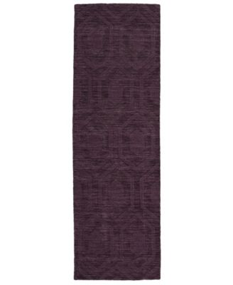"Imprints Modern IPM01-95 Purple 2'6"" x 8' Runner Rug"
