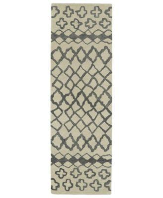 Casablanca CAS01-75 Gray 3' x 10' Runner Rug