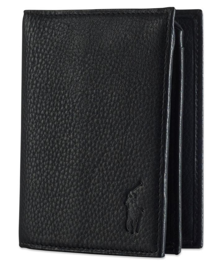 Polo Ralph Lauren Men's Wallet, Pebbled Bifold Wallet with Window & Reviews - All Accessories - Men - Macy's