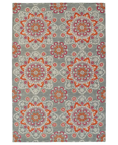 Kaleen Global Inspirations GLB12-75 Gray 9' x 12' Area Rug