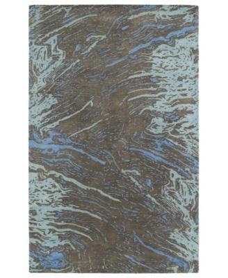 "Brushstrokes BRS01-40 Chocolate 5' x 7'9"" Area Rug"