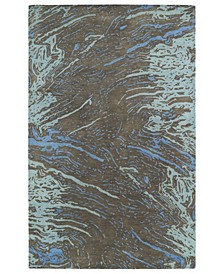 "Brushstrokes BRS01-40 Chocolate 5' x 7'9"" Area Rug"