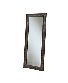 Abbyson Living Agave Brown Leather Floor Mirror