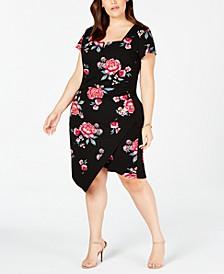 Trendy Plus Size Cutout Bodycon Dress