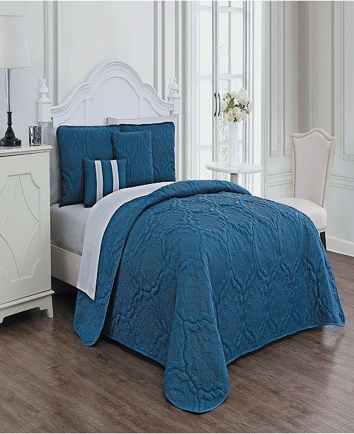 Avondale Manor Nolie 9-Pc. Embossed Queen Quilt Set