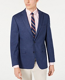 Men's Modern-Fit THFlex Stretch Blue/Red Check Sport Coat
