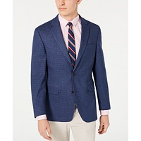 Tommy Hilfiger Mens Modern-Fit THFlex Stretch Check Sport Coat (Blue/red)