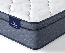 "Serta Sleeptrue Malloy 12.5"" Plush Euro Top Mattress- Twin XL"