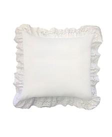 Ruffled Eyelet Pillow Euro Sham