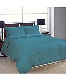 Striped Damask Full/Queen Comforter Set