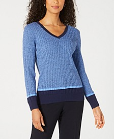 Petite Long-Sleeve Sweater, Created for Macy's