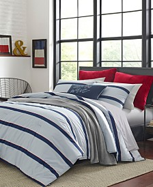 Nautica Fending Grey Comforter Sham Set, Full/Queen