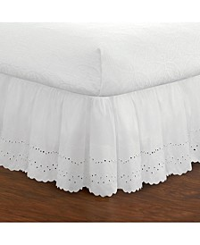 Ruffled Eyelet Queen Bed Skirt