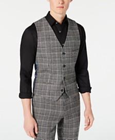 Paisley & Gray Men's Slim-Fit Plaid Vest