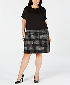 Trendy Plus Size Drop-Waist Shift Dress