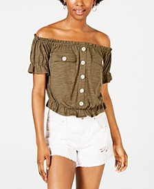 Juniors' Off-The-Shoulder Utility Top