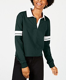 Juniors' Striped-Sleeve Rugby Polo Shirt