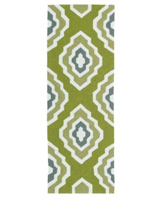 Escape ESC02-50 Green 2' x 6' Runner Rug