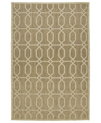 "A Breath of Fresh Air FSR02-105 Khaki 5' x 7'6"" Area Rug"