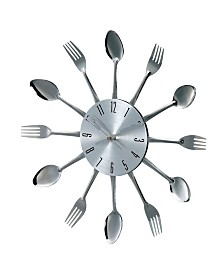 Stilnovo Metal Fork And Spoon Wall Clock