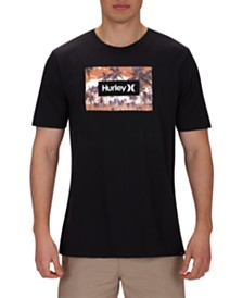 Hurley Men's Boarders Boxed Logo Graphic T-Shirt