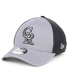 Colorado Rockies Grayed Out Neo 39THIRTY Stretch Fitted Cap