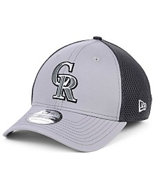 New Era Colorado Rockies Grayed Out Neo 39THIRTY Stretch Fitted Cap
