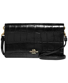 Hayden Embossed Leather Crossbody
