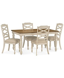 Larson Light Dining 5-Pc. Set (Expandable Table & 4 Side Chairs)