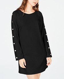 Material Girl Juniors' Embellished Sweatshirt Dress, Created for Macy's