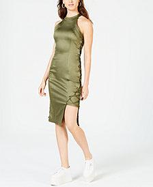 La La Anthony Sleeveless Lace-Up Dress