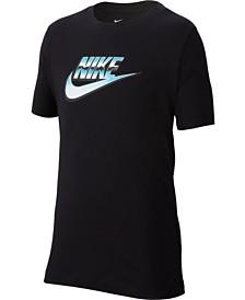 Nike Big Boys Novelty Futura Logo Graphic T-Shirt