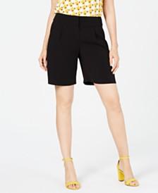 Alfani Wide-Waistband Shorts, Created for Macy's