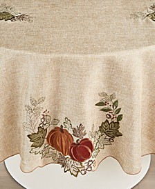 "Harvest Wreath 70"" Round Tablecloth"