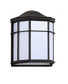 "Henry 9.7"" Outdoor Frosted Acrylic/Metal Integrated LED Sconce"