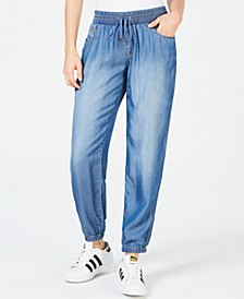 Juniors' Chambray Joggers