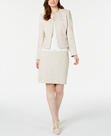 Calvin Klein Tweed Jacket, Lace Top & Tweed Skirt
