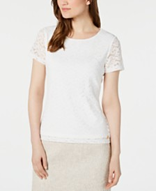 Calvin Klein Lace Crewneck Top