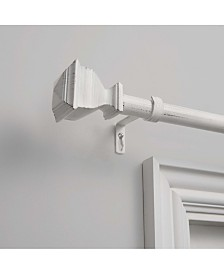 """Exclusive Home Napoleon 1"""" Curtain Rod and Coordinating Finial Set, Adjustable 66""""-120"""""""