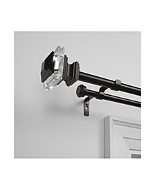"""Prism Double Curtain Rod and Finial Set, 66""""-120"""""""
