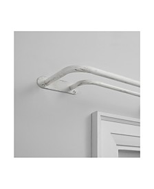 """Exclusive Home Fetter Wrap Around Double Curtain Rod, 66""""-120"""""""