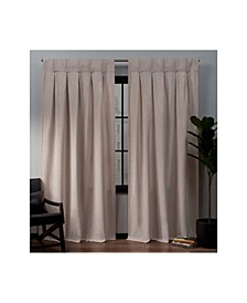 """Ghent Metro Suede Inverted Pleat Button Top Curtain Panel Pair, 32"""" x 96"""""""