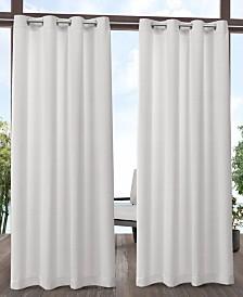 """Exclusive Home Aztec Indoor/Outdoor Grommet Top 54"""" X 84"""" Curtain Panel Pair"""