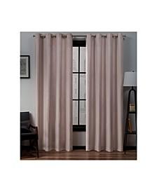 """Loha Linen Grommet Top Window Curtain Panel Pair, 54"""" x 96"""""""