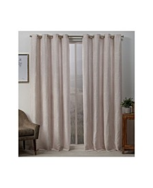 "Stanton Branch Textured Grommet Top Curtain Panel Pair, 54"" x 96"""