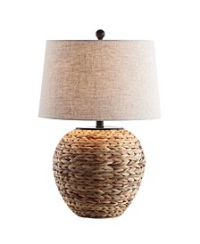 "Alaro 24.5"" Banana Leaf Basket LED Table Lamp"